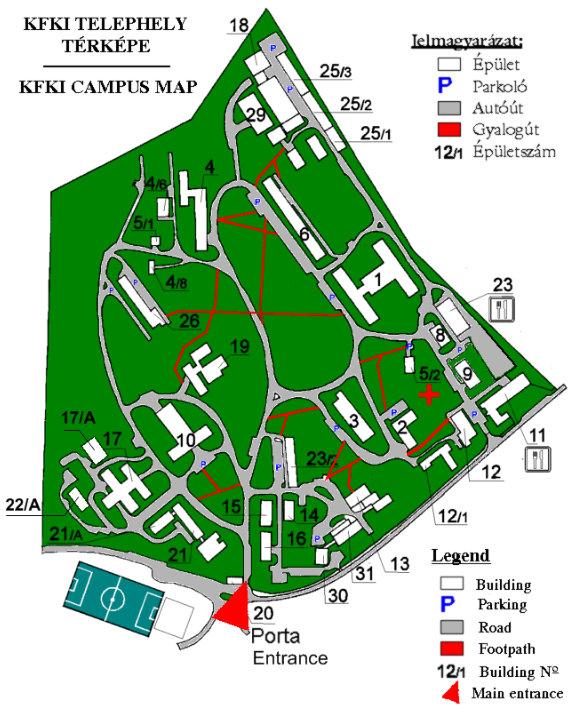 KFKI /BNC campus map